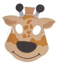 Art n Craft Giraffenschaummaske Fancy Dress Masks, Fancy Dress For Kids, Fancy Dress Outfits, Giraffe Fancy Dress, Giraffe Party, Animal Themed Birthday Party, Birthday Parties, Animal Face Mask, Fancy Dress Accessories