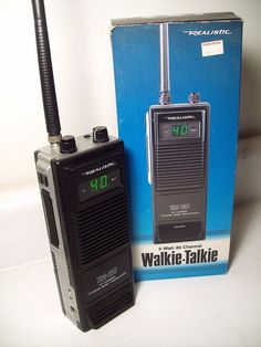A Realistic Citizens Band Walkie-Talkie from Radio Shack, manufactured in Citizen Band, Satellite Phone, Energy Technology, Ham Radio, Tech Gadgets, Walkie Talkie, Solar Energy, Solar Power, Rocket Stoves