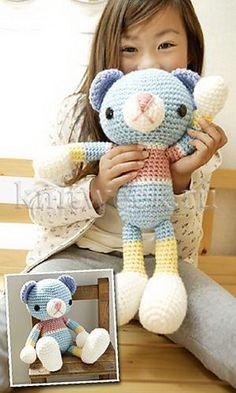 Cute Crochet Teddy Bear. Free pattern