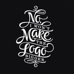 no I won't make the logo bigger x patrick cabral #graphicdesign #calligraphy #lettering #handlettering #handtype #brushpen