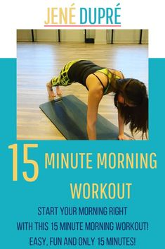 Do this 15 Minute Morning Workout to start your day right! These exercises are EASY and EFFECTIVE! This morning workout will boost your metabolism and leave you feeling energized! Hiit Workout At Home, Barre Workout, At Home Workouts, Workout Plans, Workout Routines, Getting Up Early, Fun Workouts, Fitness Workouts, High Intensity Interval Training