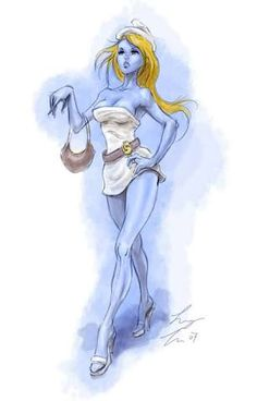 smurfette by sloppey on DeviantArt Cartoon Tv, Cartoon Characters, Fictional Characters, Smurf Village, Donnie Darko, Smurfette, Costume Contest, Sexy Cartoons, Anime Comics