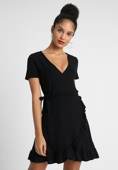 ONLY ONLHOLLY WRAP DRESS - Jerseyjurk - black - Zalando.nl
