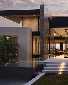 49 most popular modern dream house exterior design ideas 33 - Traumhaus Traditional Exterior, Modern Exterior, Interior Modern, Scandinavian Interior, Interior Design, Modern Architecture House, Architecture Design, Modern Houses, Modern House Exteriors