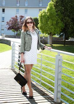 MYOFS: White shift dress