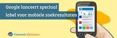 Na maanden van testen heeft Google bekend gemaakt dat het eindelijk haar mobile-friendly label heeft gelanceerd in de mobiele zoekresultaten.   Weten of uw website het Mobile-friendly label heeft gekregen? Lees er alles over in ons laatste blogartikel:  http://conversiemarketeers.nl/nl/blog/zoekmachine-optimalisatie/google-mobile-friendly-label/  #Google #mobiel