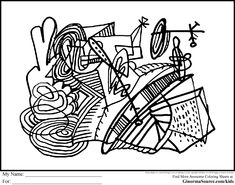 Advanced Coloring Pages For Kids Is A Modern Art Page That Has All The Fine Details And Intricate Lines Of An