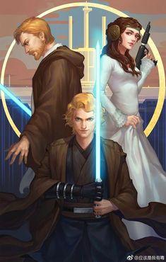 Obi-wan, Anakin y Padme