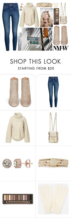 """""""What to Wear to NYFW"""" by swimwearlover ❤ liked on Polyvore featuring Aquazzura, H&M, Chloé, NAKAMOL, Urban Decay and Uniqlo"""