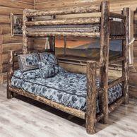 1000 ideas about cabin furniture on pinterest log cabin for Log cabin style bunk beds