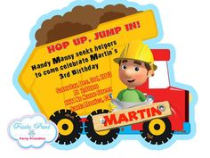 HANDY MANNY Birthday Party Printable Package by FiestaPrint