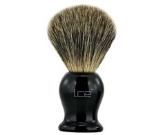 The Ice Mixed Badger Brush in black. Touted for their affordability while still being able to produce a great lather. A mix between badger hair and synthetic hair, these brushes will exfoliate and lather in an instant. Available at House of Knives. Shaving Brush, Wet Shaving, Best Shave, Synthetic Hair, Brushes, Knives, Ice, Pure Products