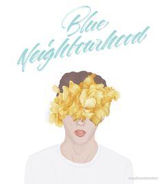 """""""blue neighbourhood"""" by sticker voodooxmonster   Redbubble"""