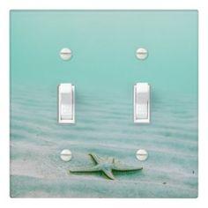Rippling Tropical Blue Water Light Switch Cover | Zazzle.com Light Switch Covers, Switch Plate Covers, Glass Ceiling Lights, Water Lighting, Custom Lighting, Beach House Decor, Blue Green, Coastal, Plates On Wall