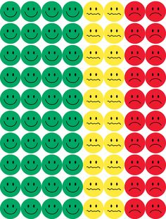 "Hygloss Products Visual Behavior Stickers - Incentive Stickers for Students & Kids - Fun Traffic Light Colors - Red, Yellow & Green - ½"" Stickers - 15 Sheets - 1200 Stickers Per Pack Classroom Behavior Management, Classroom Rules, Teaching Kids, Kids Learning, Token Economy, Face Stickers, Behaviour Chart, Kids Education, Kids And Parenting"