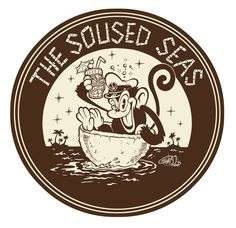 Coaster design for my pal Rod Melloy& tiki bar, The Soused Seas. Cartoon Monkey, Monkey Art, Rockabilly Art, Tiki Art, Tiki Tiki, Graffiti Doodles, Coaster Design, Pop Culture Art, Mascot Design