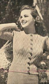 The Vintage Pattern Files: 1940's Knitting - Fiesta Jumper