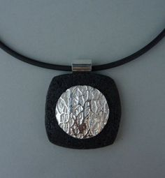art clay silver and polymer clay | Pendants