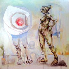 ZIGNAL   Acryl and ink on canvas   200x200 cm