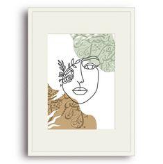 Flower Girl Framed & Mounted Print - A4 Portrait / Ivory Frame