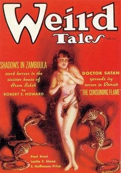 """Weird Tales"". Cover by the famous Margaret Brundage."