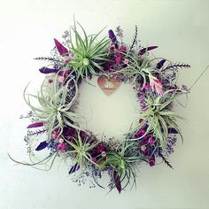 Items similar to air plant wreath // plum  //  tillandsia by robincharlotte on Etsy