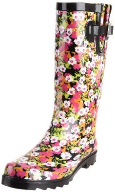 """Western Chief Women's Springy Floral Boot,Lime,10 M US Western Chief. $38.74. Heel measures approximately 0.75"""". Made in China. Cinch strap for calf comfort. Shaft measures approximately 11.5"""" from arch. rubber. Boot opening measures approximately 14.75"""" around. Fabric lined for increased comfort. Rubber sole"""