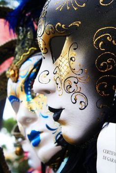 Masks of Venice  Side on. Side profile to sketch from