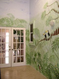 jungle mural (for the reading room)
