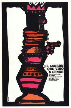 Cuban flm posters designed by Eduardo Muñoz Bachs.