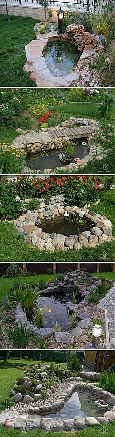 Best Ideas For Backyard Pond Decor Water Features Backyard Water Feature, Ponds Backyard, Backyard Landscaping, Garden Ponds, Pond Design, Landscape Design, Garden Design, Diy Pond, Pond Fountains