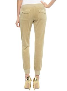 981e4f8b9baa1 Juicy Couture Tracksuit Velour Track Pants Mimi Beige ECRU STONE