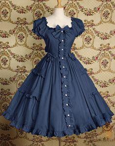 Vintage Square Neck Bows Ruched Flouncing Short Sleeves Women's DressVintage Dresses | RoseGal.com