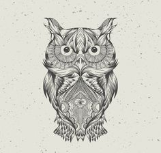 aztec, background, draw, hand, hd, owl, pattern, wallpaper