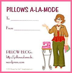 """Shout out from Katherine #PILLOWS A-LA-MODE for mentioning us in her AWESOME Blog! Check her out:   http://pillowsalamode.wordpress.com/  -Design-Her-Gals- """"This is the fun website where I make my gravatar gal gift cards and writing business cards. If you've visited before, you'll find all your previous """"gals"""" still in your """"dressing room"""" ready to go! To use Design-Her-Gals, simply pick your """"you,"""" dress and accessorize her, and put her on business cards and more.  I just love them all! ♥"""""""