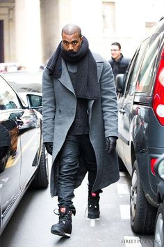 Kanye after the Maison Martin Margiela show || Streetstyle Inspiration for Men! #WORMLAND Men's Fashion