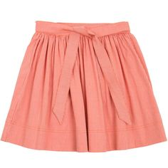 Miller Age 4 to 8 Red Pala Skirt ($34) ❤ liked on Polyvore featuring skirts, bottoms and saias