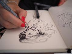 Sketch Emilia Illustration
