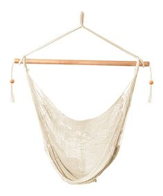 Loving this White Island Natural Rope Hammock Chair on #zulily! #zulilyfinds