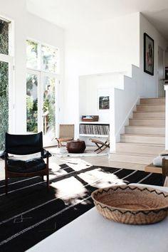 sunny room + dark rugs