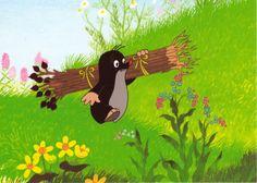 Mini RR (Krtek) from Duffeli Cute Disney Wallpaper, Mole, Vintage Children, Cute Cartoon, Illustrators, Draw, Embroidery, Artwork, Anime