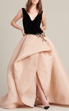 Sleeveless V-Neck Ball Gown by Monique Lhuillier | Moda Operandi