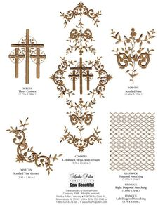 Trinity Cross - Embroidery Download | Martha Pullen