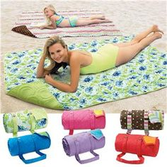 Reversible Cotton Quilted Mat | Fun in the Sun | Lillian Vernon