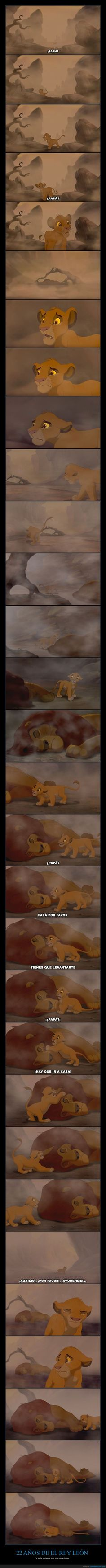 Se cumplen 22 años de El Rey León y los recordamos con esta secuencia - Y esta escena aún me hace llorar