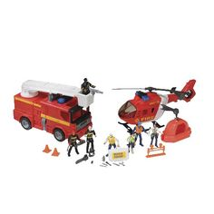 CP Toys 26 pcFire  Rescue Set with Rescue Helicopter and Fire Truck with Lights and Sound -- Check out the image by visiting the link.Note:It is affiliate link to Amazon.