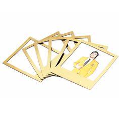 Golden Polaframes, magnetische Fotorahmen Gold Edition 6er-Set - doiy Design