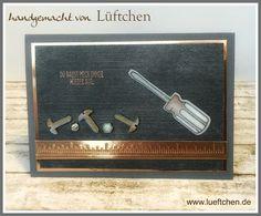 Lüftchen Stempelstudio Bergedorf, Nailed It, Hammer! Männerkarte, Stampin Up!, SU!