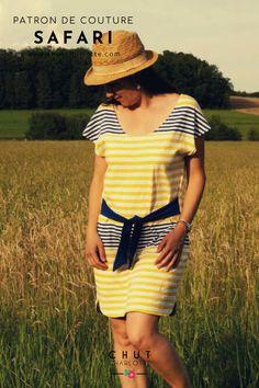 C'est le patron PARFAIT pour débuter la couture, ou se faire plaisir en un rien de temps ! www.chutcharlotte.com Betty Boop, Chut Charlotte, Safari, Parfait, Shirt Dress, T Shirt, Collection, Dresses, Fashion