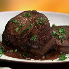 the chew | Recipe  | Michael Symon's Steak With Peppercorn Sauce